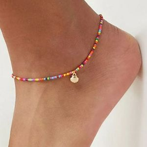Jewelry - Colorful Beads Ocean Gold Scallop Anklet